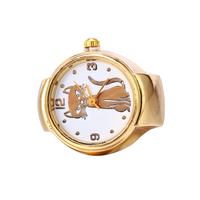 new design vintage lady girl finger watch gold steel round ring watches women oem