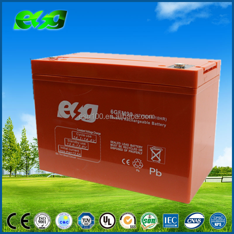 12v90AH battery sealed lead acid battery rechargeable battery for solar system