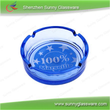 Promotional Clear Or Color Sprayed Round Glass Ashtray