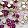 4mm 6mm 8mm 10mm gold claw setting crystal rhinestones beads wholesale