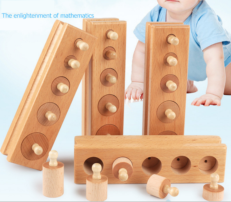 2017 Hot new educational wooden toy Knobbed Cylinder for kids