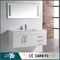 MDF material pvc film bathroom cabinet bath furniture