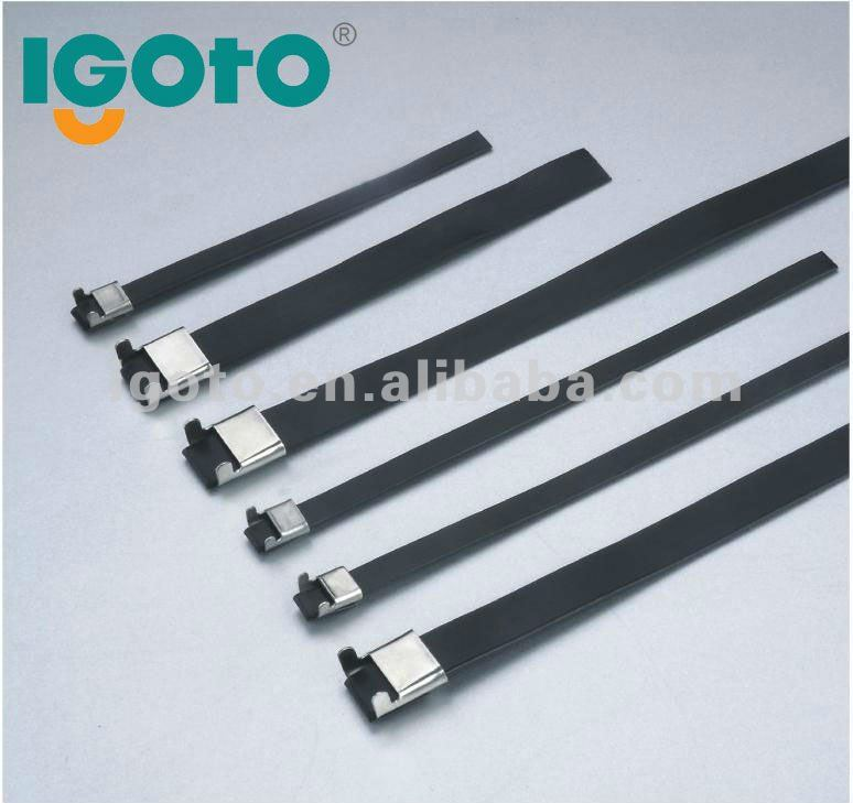 pvc coated L type 316 stainless steel cable tie