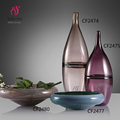 Handmade craft colorful decorative glass vase