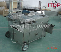 Assembled mobile bbq food cart