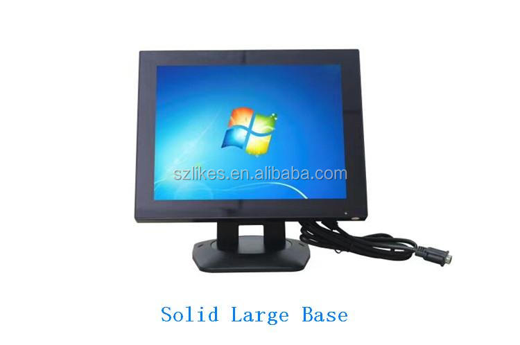 LKS-TM12A 12 inch 4:3 flat panel industrial touch screen monitor