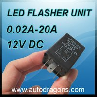 Hige quality LED light flasher unit CF13GL02 12V 0.02A-20A