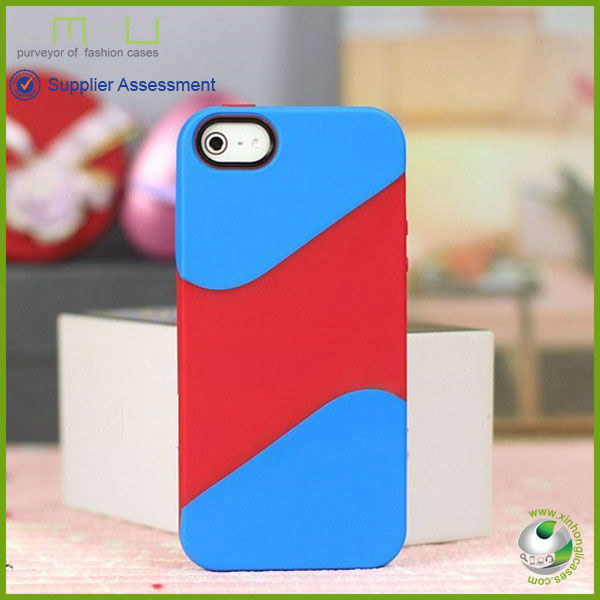 New geometric three color tpu mobile phone case