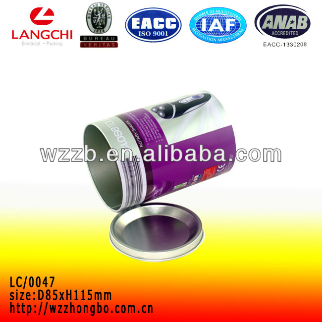 Cheap round tin metal box for electronic