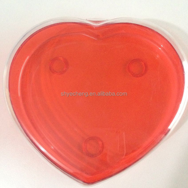 eco friendly clear cheap custom heart shape plastic packaging box