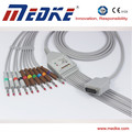Medical 10/12 leads EKG cable for Shanghai Nihon Kohden, AHA, Banana, NO resistor