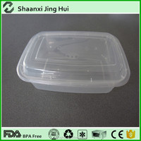 black plastic disposable microwave keep food warm lunch box for takeaway food