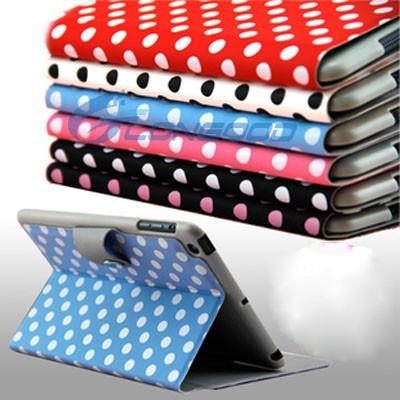 Polka Dot Flip Leather Cover Case For Tablet For iPad Mini
