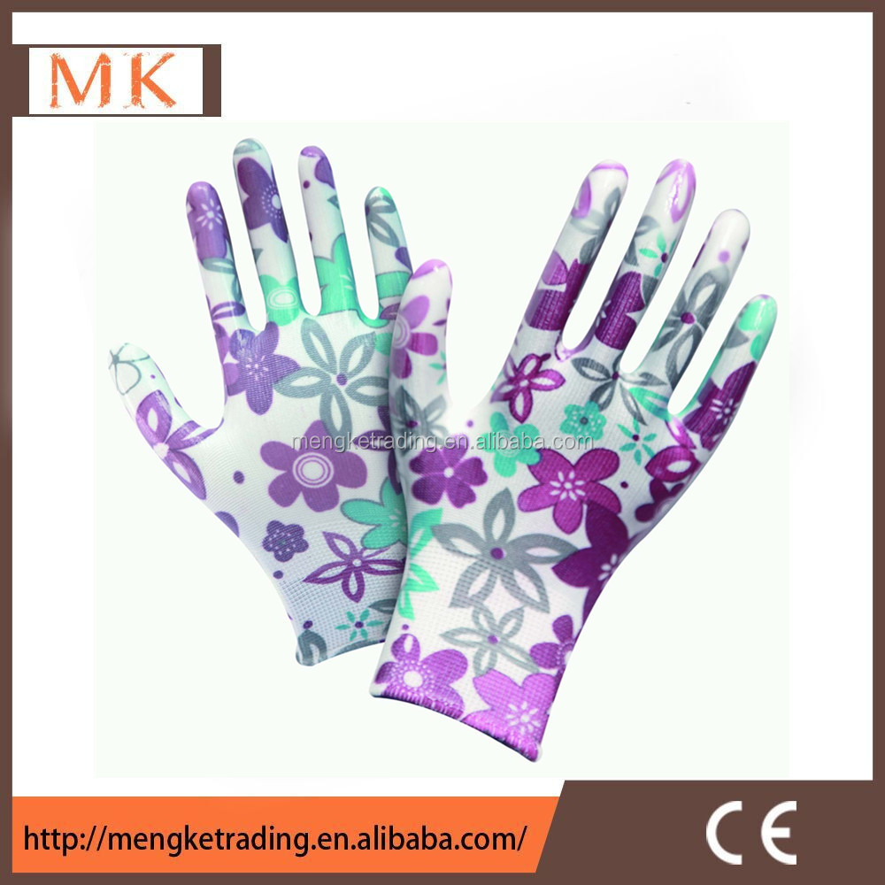 gardening gloves nitrile dipped nylon gloves 4131