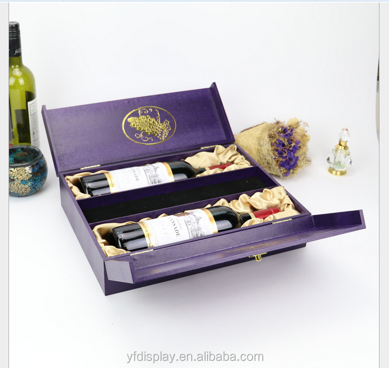 Corcodile Leather Wooden Wine Box