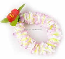 Promotional Hawaiian Flower Necklace Lei Fabric Leis