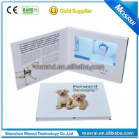 "A5 size 4 Colour Printing 7 "" video booklet , digital lcd 7 inch video booklet Use for advertising"