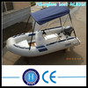 New fiberglass fishing boat with canopy