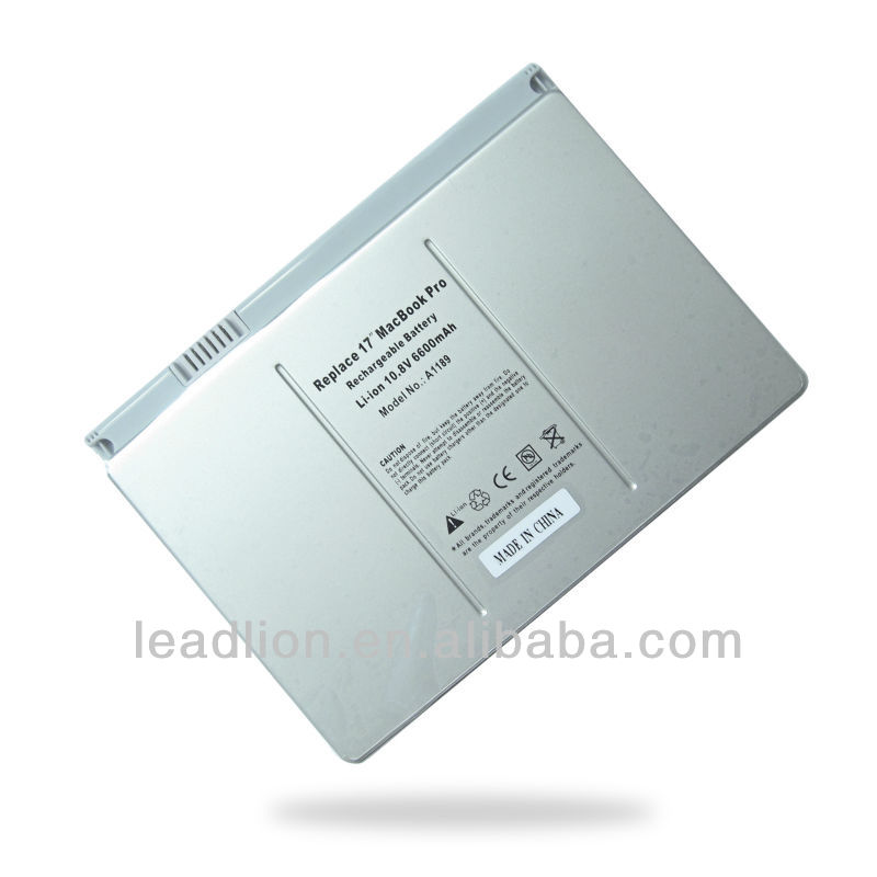 "A1189 replacement laptop battery for Apple MacBook Pro 17"" Series A1151"