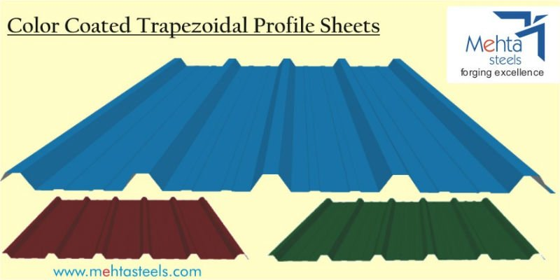 Color Coated Trapezoidal Profile Sheets P.P.G.I., P.P.G.L., and Bare Galvalume