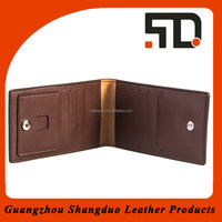 Wholesale Low MOQs Name Card Clip Leather Clip Card Holder