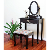Bedroom Wood Dressing Table With Mirror