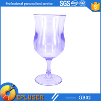 2015 New products water goblets sale,long stem cup,plastic champagne glass