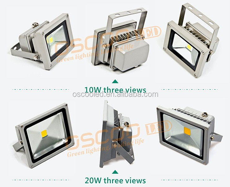 Super Power Hot-Sale Oscoo IP65 Die Casting Aluminium CE&Rohs 50W RGB LED Floodlight with Colorful Light