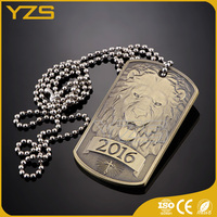 factory supply 3d Bronze Ambassador Christian Academy dog tag