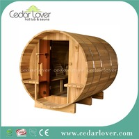 Canadian red cedar wooden room outdoor cabin barrel sauna