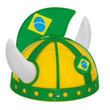 Mini Plastic Football Helmet With Brazil Flag Design Flag Helmet