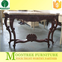 Moontree MCS-1107 Top Quality 5 Star Hotel Furniture Wood Carved Console Table