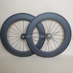 carbon track bike wheels clincher 88mm deep 20.5mm wide bicycle wheelset