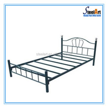 Update style single metal bed design with strong frame models for girls