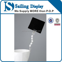 Advertising Transparent Two Clips Sign Display Holder
