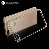 for iphone 7 clear case strong Shockproof,airbag Anti-Fall Clear Slim Soft Flexible TPU Silicone Gel Rubber