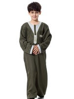 high quality thobe and abaya muslim boys clothing