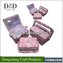 D&D Plastic organizer containers travel sewing baskets pink cotton storage boxs