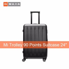 Hot sale! Original Xiaomi 90 point travel Suitcase 24 inch Spinner Wheel Luggage 4 Colors Hardside xiaomi suitcase new products