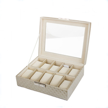 customize wooden watch case design PU/PVC leather cover handmade watch box