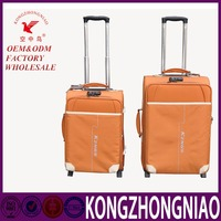 2016 Most Fashionable Zipper Aluminium Trolley Luggage