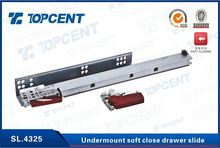 Soft closing full extension undermount drawer sliding tracks for drawers
