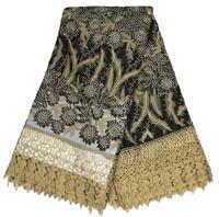Black Fashion new cotton tulle wholesale Dubai French Lace LC246-3