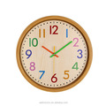 Round Shape Plastic Home Decorative Wall Clock