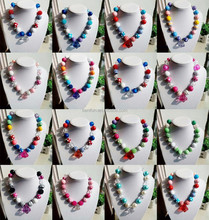 beaded necklace baby teething necklace wholesale latest design beads necklace