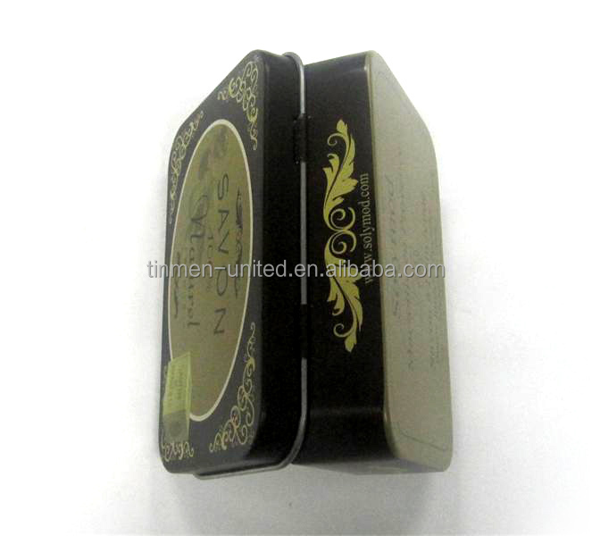 Mini rectangle earphone tin box,cool box,small gift tin box with hinged