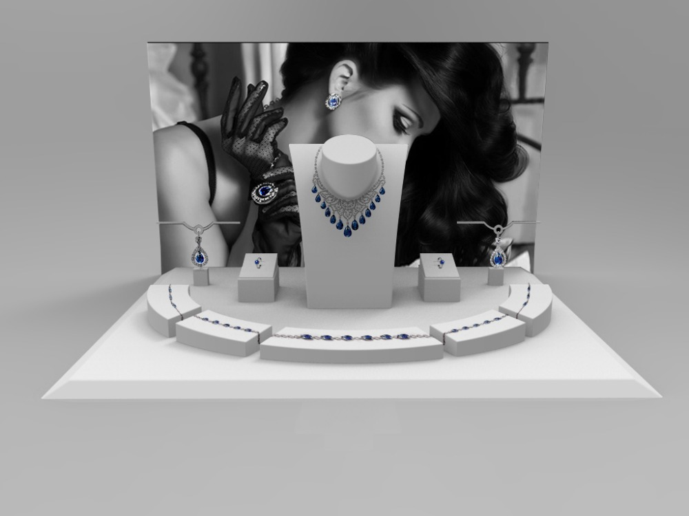 hot sale professional acrylic countertop jewellery display set