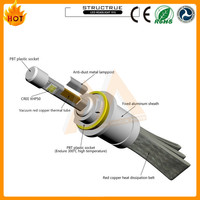 Best Quality h11 LED Bulb Led Headlight H11 with Flexible Tinned Copper Braid