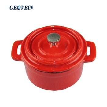 5 inch Mini Cast Iron Enameled Round Dutch Oven/Casserole/Cocotte