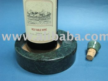 Marble Wine Bottle Coaster W/ A Cork Rest